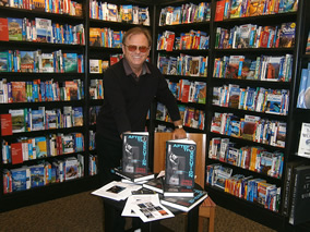 James Raven signed copies of Rollover at Waterstones in Lymington